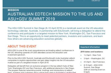 Bookform selected for AusTrade EduTech mission to US