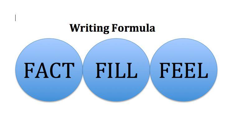 Writing formula: Fact, Fill, Feel